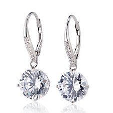 Michelle Mone for Diamonique 8ct tw Leverback Earrings Sterling Silver
