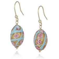 Murano Glass Primavera Drop Earrings Sterling Silver