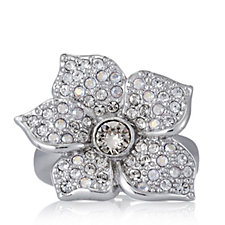 JM by Julien Macdonald VIP Collection Crystal Floral Cocktail Ring