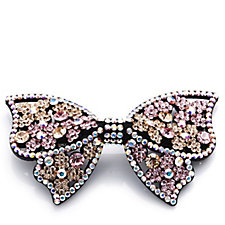 Butler & Wilson Jewelled Crystal Bow Hairclip