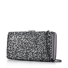 Frank Usher Glitter Clutch Bag with Removable Strap