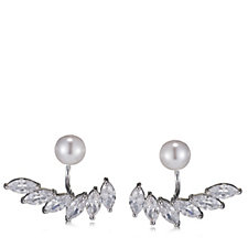 Nour Cubic Zirconia & Simulated Pearl Ear Jackets