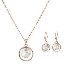 Frank Usher Crystal Earring & Necklace Set