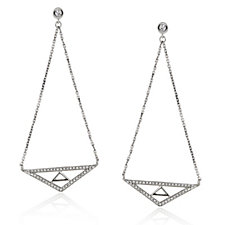 0.25ct Diamond Chakra Balance Drop Earrings 9ct White Gold