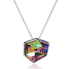 Aurora Swarovski Crystal Fancy Cut Pendant 52cm Necklace