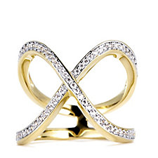 Bella Vita Kiss Gold Plated Ring Bronze