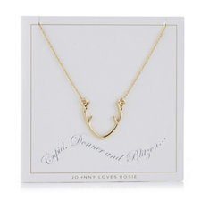 Johnny loves Rosie Christmas Necklace Gift Card