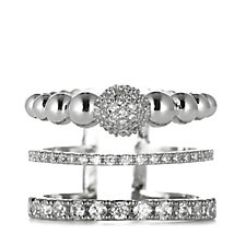Nour Expandable Crystal Stack Ring