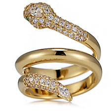 Elizabeth Taylor 1.1ct tw Simulated Diamond Snake Ring