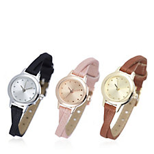 Gossip Set of 3 Mini Dial Skinny Strap Watches