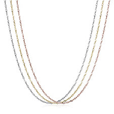 9ct Gold Set of 3 45cm Singapore Chains