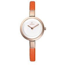 Obaku Ladies Siv Leather Strap Watch