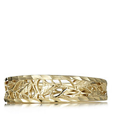 9ct Gold Diamond Cut Leaf Band Ring