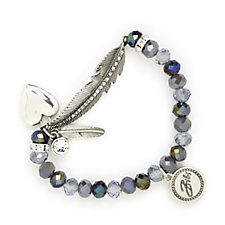 Bibi Bijoux Feather & Bead Bracelet