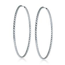 Georgiana by G Scott 60mm Statement Hoop Earring Sterling Silver