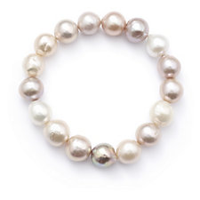 Honora 12-14mm Cultured Ming Stretch Pearl Bracelet