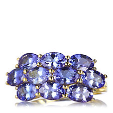 4.5ct AAA Tanzanite 10 Stone Band Ring 18ct Gold