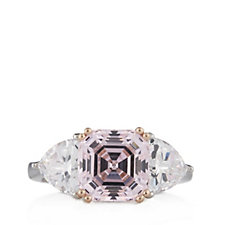 Michelle Mone for Diamonique 6ct tw Asscher Cut Ring Sterling Silver