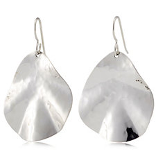 Taxco Traditions Hammered Wave Earrings Sterling Silver