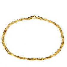 9ct Gold Singapore 19cm Bracelet
