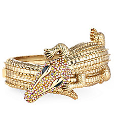 Butler & Wilson Crystal Crocodile Bangle