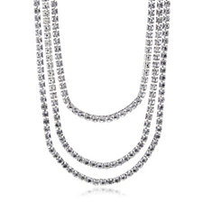 loveRocks Crystal Multi Strand 45cm Necklace