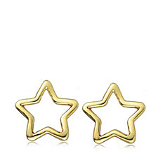 9ct Gold Star Openwork Earrings