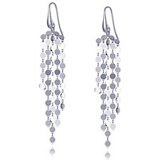 Bianca Platinum Plated Multistrand Drop Earrings Sterling Silver