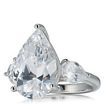 Elizabeth Taylor 7ct tw Simulated Diamond Taylor-Burton Ring