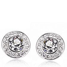 Aurora Swarovski Crystal Maids In Waiting Stud Earrings
