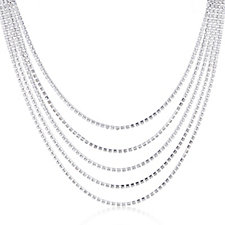loveRocks Crystal Layered 45cm Necklace with 5cm Extender