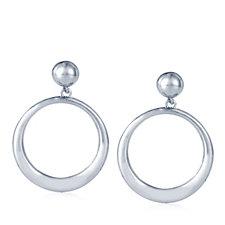 Elizabeth Taylor 18ct Gold Plated Hoop Drop Earrings