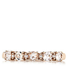 0.4ct Morganite Half Eternity Ring with Diamond Accent 9ct Gold