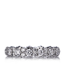 Michelle Mone for Diamonique 2ct tw Scattered Eternity Ring Sterling Silver