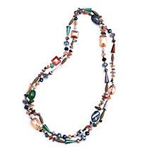 Frank Usher Multi Crystal Wrap 120cm Necklace