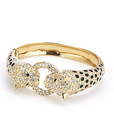 JM by Julien Macdonald Safari Collection Leopard Pave Hinged Bangle
