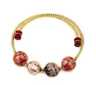 Murano Glass Wrap Bead Bangle