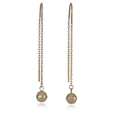The Gold Room 9ct Gold Diamond Cut Bead Threader Earrings