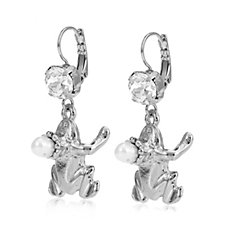 Bibi Bijoux Frog & Cultured Pearl Earrings