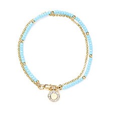 Buckley London Camden Beaded Crystal Charm Bracelet