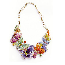 Butler & Wilson Multi Colour Crystal Butterflies 36cm Necklace