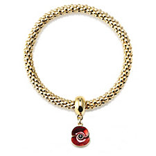 The Poppy Collection Mesh Stretch Charm Bracelet by Buckley London