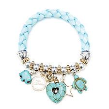 Bibi Bijoux Braided Multi Charm Stretch Bracelet