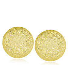 9ct Gold Pave Button Stud Earrings