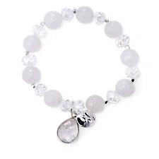 Bcharmd Luxe Semi Precious Crystal Stretch Charm Bracelet