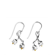 Azendi Birthday Flowers Lily of the Valley Earrings
