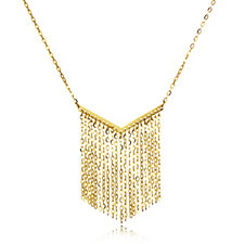 9ct Gold Forzatina Fringe 45cm Necklace
