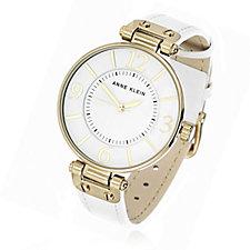 Anne Klein Chelsea Quartz Leather Strap Watch