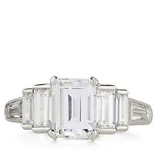 330945 - Diamonique 3.5ct tw Emerald Cut Ring Sterling Silver