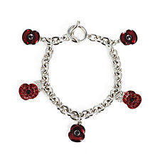The Poppy Collection Charm Bracelet by Buckley London